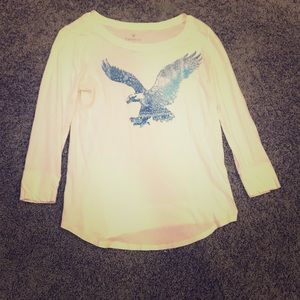 American Eagle 3/4 Length Sleeve T-Shirt
